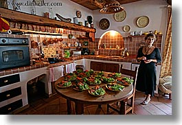 bargeme, cooks, europe, france, horizontal, kitchen, people, provence, rooms, womens, photograph