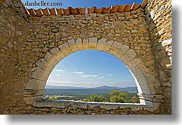 arches, archways, bargeme, europe, france, horizontal, landscapes, materials, provence, stones, structures, terra cotta, windows, photograph