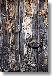 bargeme, browns, colors, doors, europe, france, handle, materials, old, provence, rusty, vertical, woods, photograph