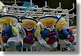 castellane, colors, dolls, europe, france, hair, horizontal, provence, yellow, photograph