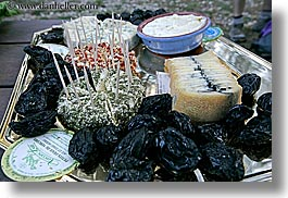 castellane, cheese, europe, france, horizontal, picnic, plates, provence, photograph