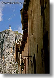 castellane, churches, cliffs, europe, france, over, provence, roofs, scenics, vertical, photograph