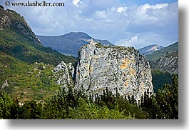 castellane, churches, europe, france, horizontal, mountains, provence, scenics, photograph
