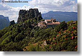 castellane, europe, france, hilltop, horizontal, provence, scenics, towns, photograph