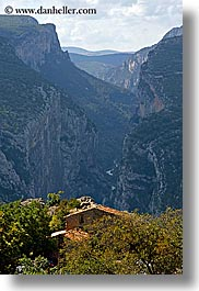 canyons, castellane, europe, france, houses, provence, scenics, vertical, photograph