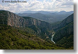 canyons, castellane, clouds, europe, france, horizontal, nature, provence, rivers, scenics, sky, photograph
