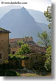 castellane, europe, farmhouse, france, mountains, provence, scenics, stones, vertical, photograph