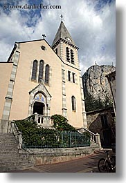 buildings, castellane, churches, europe, france, provence, religious, structures, towns, vertical, photograph