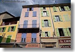 buildings, castellane, colorful, colors, europe, france, horizontal, provence, towns, photograph