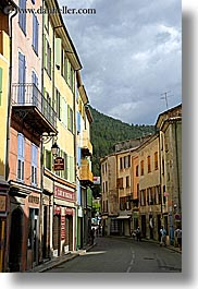 buildings, castellane, colorful, colors, europe, france, provence, towns, vertical, photograph