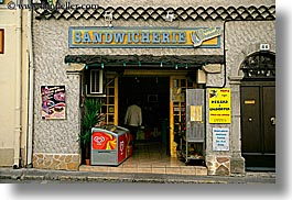 castellane, europe, france, horizontal, provence, sandwiches, shops, towns, photograph