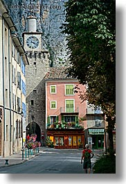 castellane, clock tower, colorful, colors, europe, france, provence, towns, vertical, photograph