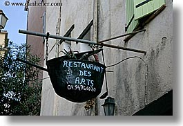 arts, europe, fayence, france, horizontal, provence, restaurants, signs, photograph