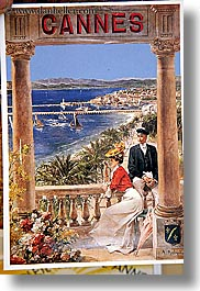 cannes, colorful, colors, europe, fayence, france, postcards, provence, vertical, photograph