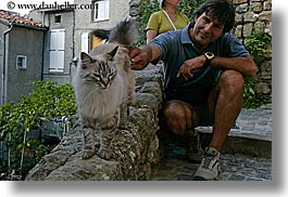 cats, europe, fayence, france, horizontal, men, nicos, people, provence, photograph