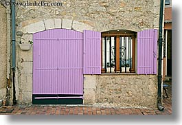 colors, europe, fayence, france, horizontal, pink, provence, shutters, photograph