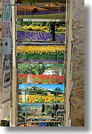colorful, colors, europe, fayence, france, postcards, provence, vertical, photograph