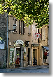 branches, canopy, europe, fayence, france, nature, plants, provence, shops, trees, vertical, photograph