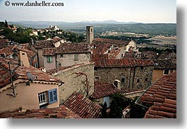 europe, fayence, france, horizontal, overlook, provence, towns, photograph