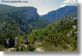 activities, europe, france, hikers, hiking, horizontal, mountains, people, provence, photograph