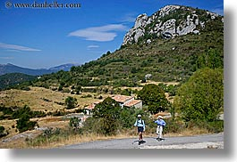 activities, europe, france, hikers, hiking, horizontal, mountains, nature, people, provence, photograph