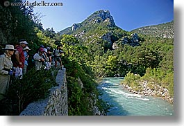 activities, europe, france, hikers, hiking, horizontal, looking, mountains, nature, people, provence, rivers, photograph