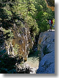 activities, europe, france, hikers, hiking, overhang, people, provence, vertical, photograph