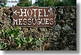 europe, france, horizontal, hotel des messugues, hotels, messugues, provence, signs, photograph