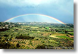 europe, france, horizontal, les baux, provence, rainbow, photograph