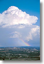 europe, france, les baux, provence, rainbow, vertical, photograph