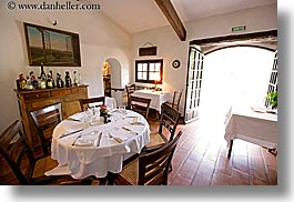 archways, buildings, dining, europe, france, horizontal, moulin de camandoule, provence, restaurants, rooms, structures, photograph