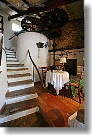 buildings, dining, europe, france, moulin de camandoule, provence, restaurants, rooms, structures, vertical, photograph