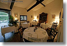 buildings, dining, europe, france, horizontal, moulin de camandoule, provence, restaurants, rooms, structures, photograph