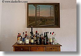 europe, france, horizontal, liquor, moulin de camandoule, paintings, provence, windows, photograph