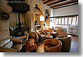 europe, france, horizontal, living, moulin de camandoule, olives, press, provence, rooms, photograph
