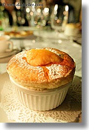 desserts, europe, foods, france, moulin de camandoule, provence, souffle, vertical, photograph
