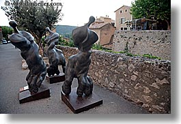 arts, europe, france, hands, heads, horizontal, materials, modern, moustiers, provence, st marie, steel, stones, photograph