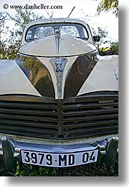 arts, classic car, europe, france, moustiers, peugeot, provence, st marie, transportation, trucks, vertical, photograph