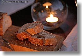 bastide moustiers, bread, candles, dusk, europe, foods, france, horizontal, moustiers, provence, st marie, photograph