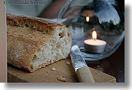 bastide moustiers, bread, candles, europe, foods, france, horizontal, knife, moustiers, provence, st marie, photograph
