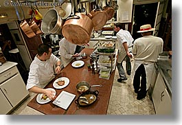 bastide moustiers, busy, cooks, europe, france, horizontal, kitchen, men, moustiers, people, provence, rooms, st marie, photograph
