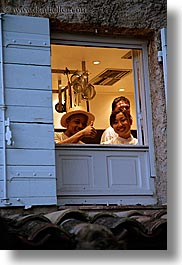 bastide moustiers, cooks, europe, france, men, moustiers, people, provence, st marie, vertical, windows, womens, photograph