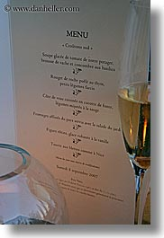 bastide moustiers, champagne, europe, foods, france, menu, moustiers, provence, st marie, vertical, white wine, wines, photograph