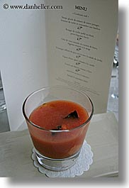 bastide moustiers, drinks, europe, foods, france, menu, moustiers, provence, soup, st marie, tomatoes, vertical, photograph