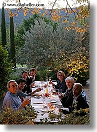 bastide moustiers, dining, dinner, dusk, europe, foods, france, moustiers, nature, plants, provence, st marie, tourists, trees, vertical, photograph