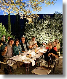 bastide moustiers, dining, dinner, dusk, europe, foods, france, moustiers, provence, slow exposure, st marie, tourists, vertical, white wine, wines, photograph