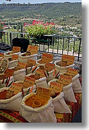 bags, europe, foods, france, moustiers, provence, spices, st marie, vertical, photograph