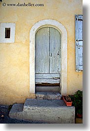 arches, doors, europe, france, moustiers, provence, st marie, step, vertical, photograph