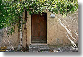 doors, europe, france, horizontal, ivy, moustiers, provence, st marie, photograph
