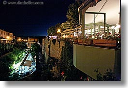 europe, france, horizontal, moustiers, nite, provence, restaurants, st marie, towns, photograph